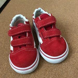 Red Checkerboard Vans Size 5C
